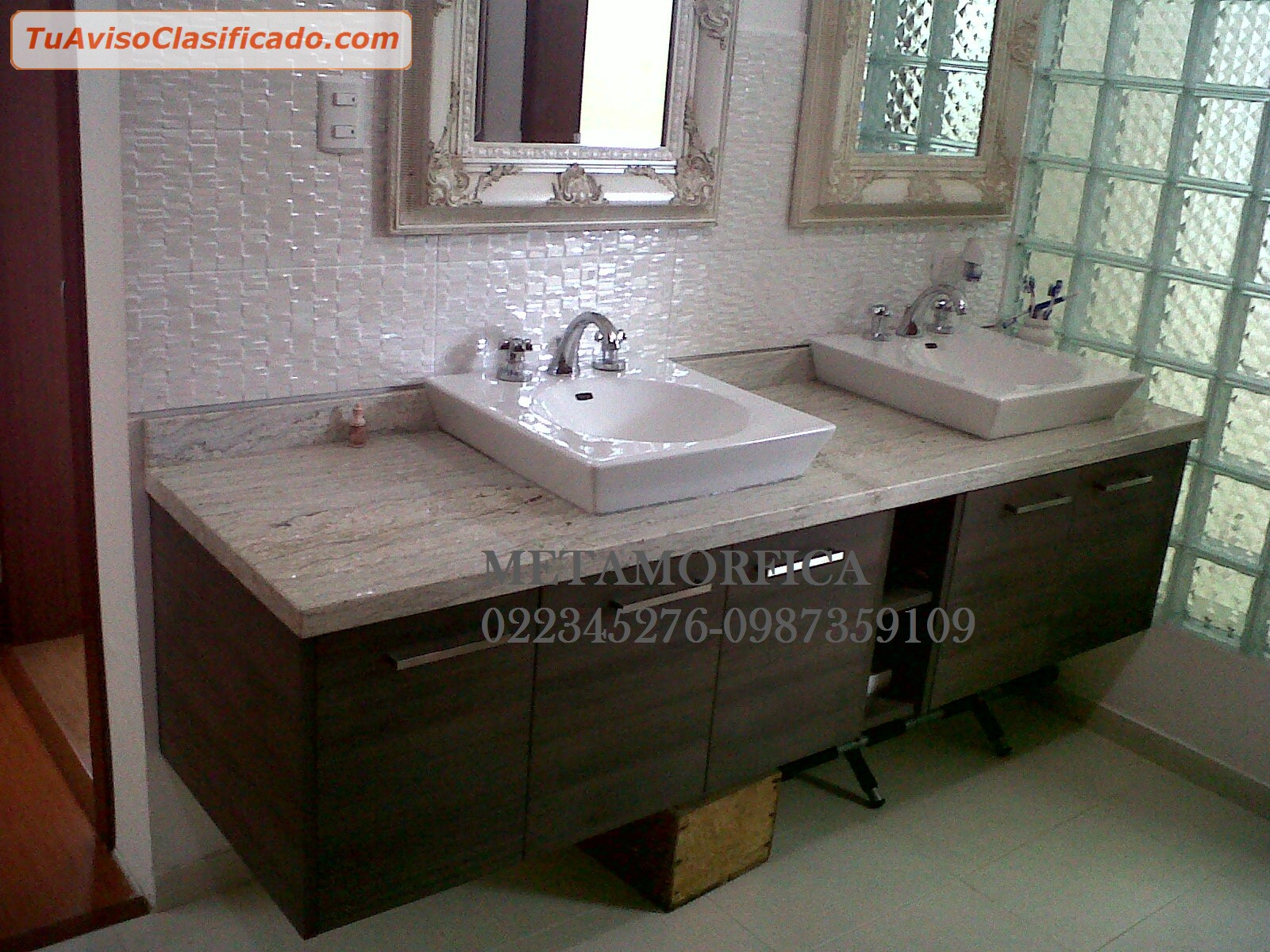 Marmoles maderas y granitos mobiliario y equipamiento for Laminas de marmol y granito