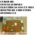 CURSO DE ELECTRICIDAD $70 UN MES INSTALACIONES  DISEÑO DE CIRCUITOS 0959082112