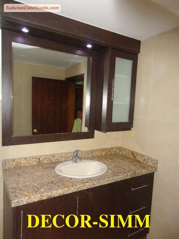 Muebles de cocina closet baños puertas en melamina mesones de gran...