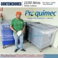 Contenedores industriales 1100 litros varios colores