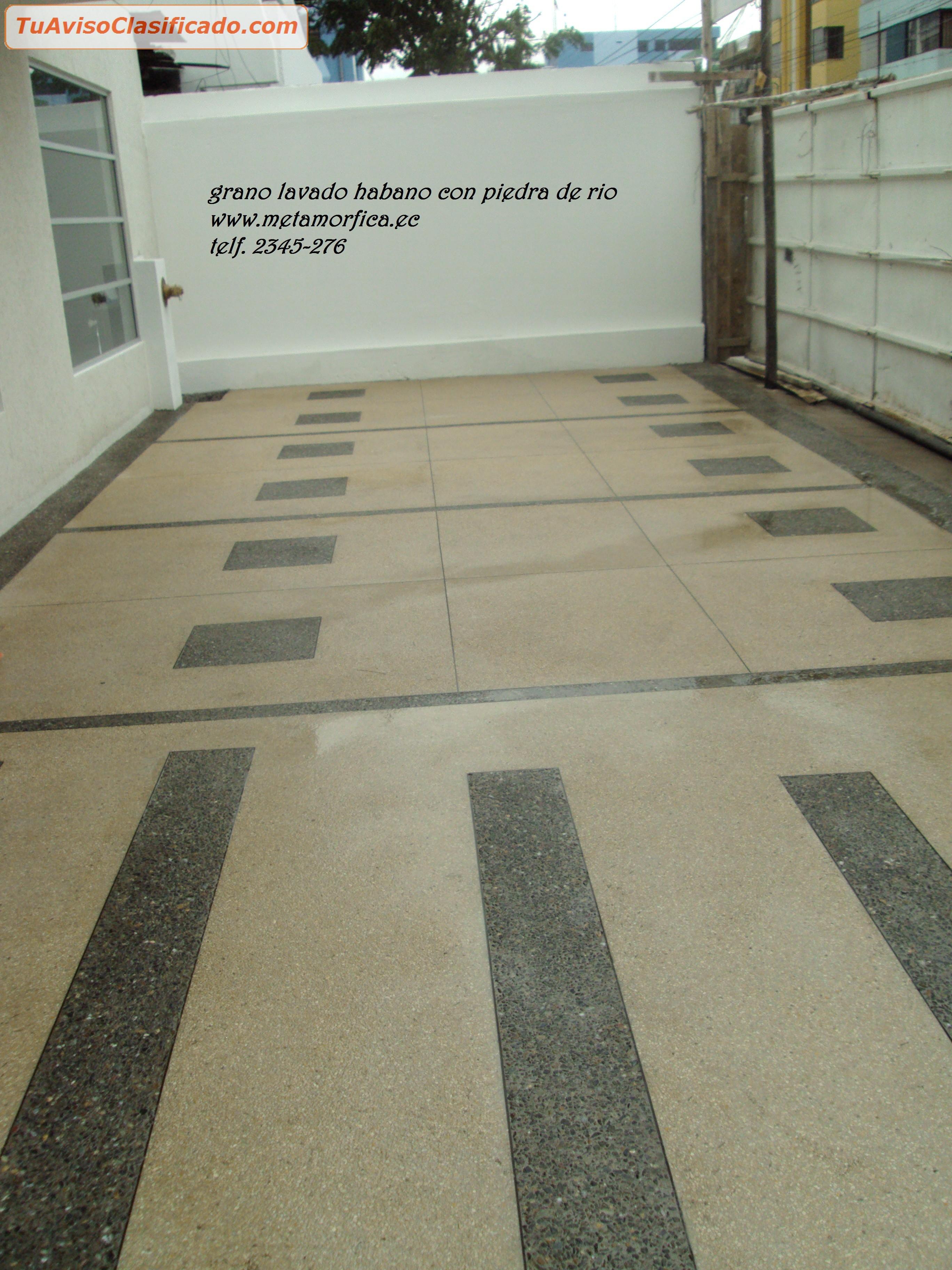 Granito lavado desde 13m2 para patios piscinas rompeolas for Granito importado