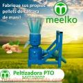 Peletizadora meelko 200mm 15hp PTO para concentrados balanceados 200-300kgh - MKFD200P